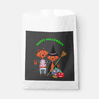 Happy Halloween Cute Cats Favor Bag