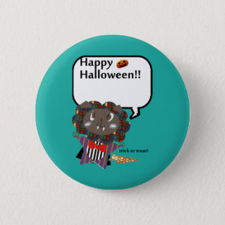 Happy Halloween Cute Draculion Pinback Button