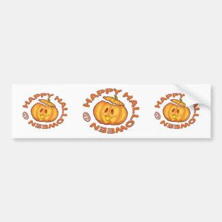 Happy Halloween Cute Laughing Pumpkin Car Bumper Sticker