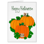 Happy Halloween, Cute Mice and Pumpkins Greeting Cards