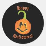 Happy Halloween Cute Whimsical Pumpkin Treat Favor Classic Round Sticker
