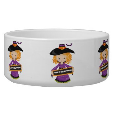 Halloween Themed Happy Halloween Cutie Witch Bowl