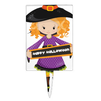 Happy Halloween Cutie Witch Cake Topper