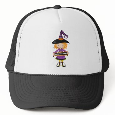 Halloween Themed Happy Halloween Cutie Witch Trucker Hat