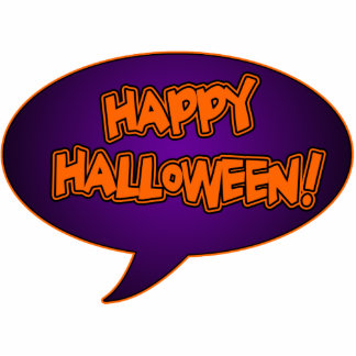 Happy Halloween Cutout Magnet 2x3