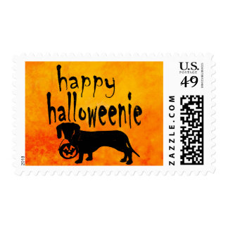 Happy Halloween Dachshund Halloweenie Wiener Dog Postage