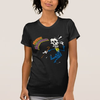 happy halloween dancing bones skeleton shirts