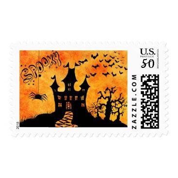 Halloween Themed Happy Halloween Dark Ghosts Postage
