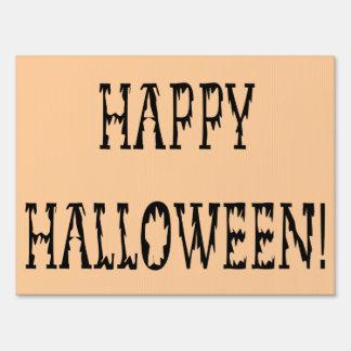 Happy Halloween Dead World Text Yard Sign