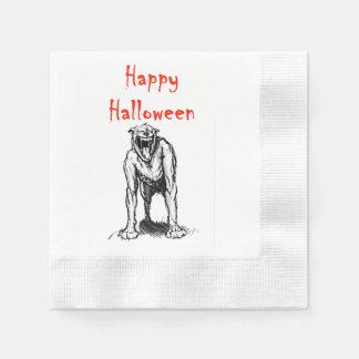 Happy Halloween Demon Hell Dog 2 Napkin