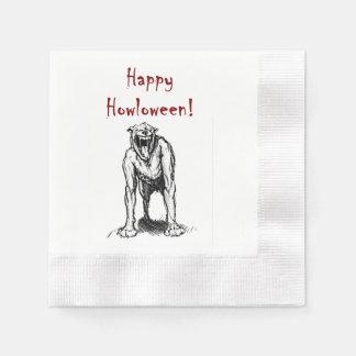 Happy Halloween Demon Hell Dog Napkin