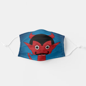 Happy Halloween Devil Cloth Face Mask