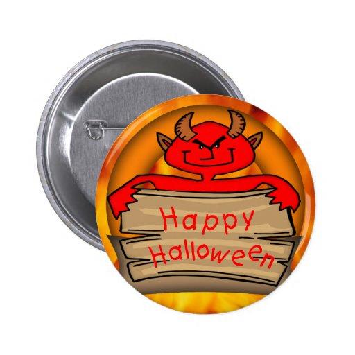 Happy Halloween Devil Pins
