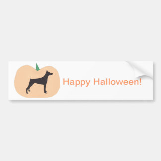 Happy Halloween Doberman Pinscher Bumper Sticker