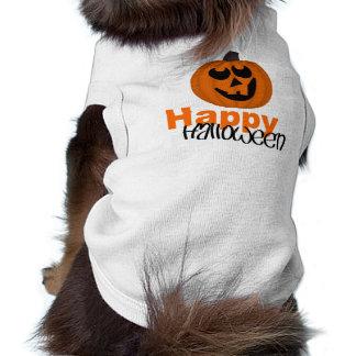 Happy Halloween Doggie Ribbed Tank Top Doggie Tshirt