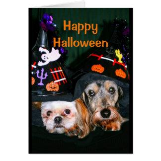 Happy Halloween - Don't Be Afraid Of The Bark! Card
