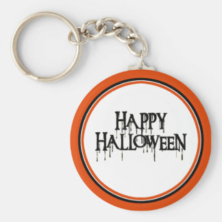 Happy Halloween Drippy Text Image Keychains