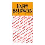 Happy Halloween Drippy Text Image Photo Card