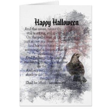 countrymousestudio Happy Halloween Edgar Allan Poe Raven Poem Card