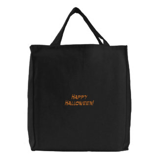 Happy Halloween Embroidered Bag