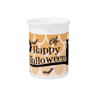 Happy Halloween emoji Beverage Pitcher