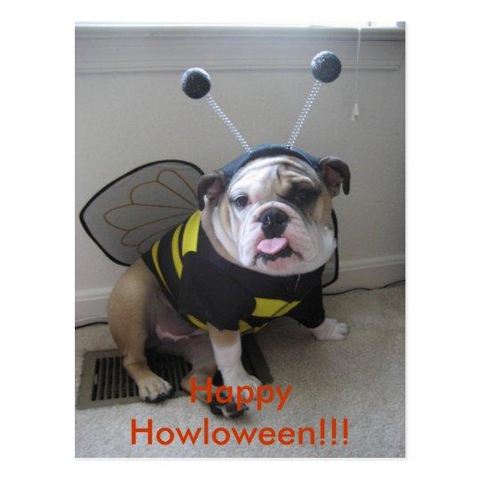 Happy Halloween, English Bulldog Postcard