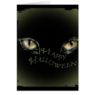 Happy Halloween-Eyes are watching you Card