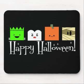 Happy Halloween Faces Mouse Pad