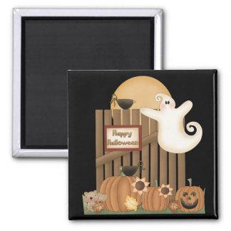Happy Halloween Fall Scene Fridge Magnets