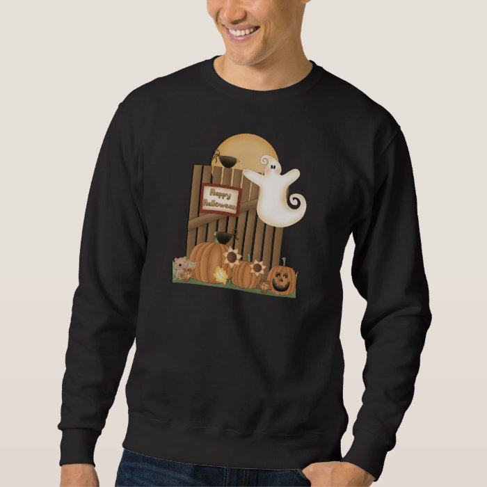 Happy Halloween Fall Scene Sweatshirt