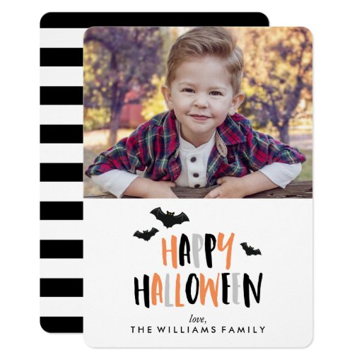 Happy Halloween Family Photo Card