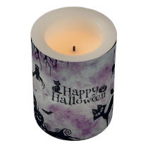 Happy Halloween Flameless Candle