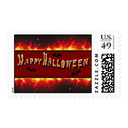 Happy Halloween Flaming Set Postage