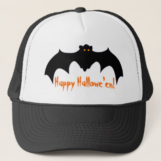 Happy Hallowe'en Flying Bat Trucker Hat