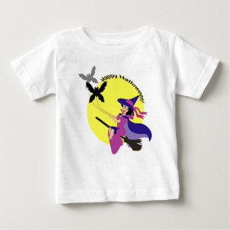 Happy Halloween Flying Witch T-Shirt