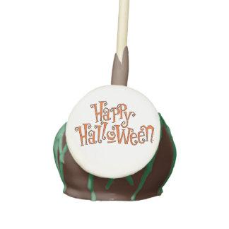 Happy Halloween Font Design Cake Pops