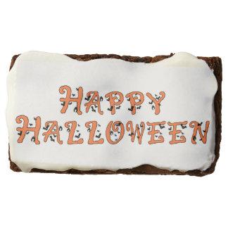 Happy Halloween Font with Bats Rectangular Brownie