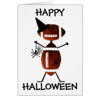 Happy Halloween Football Card