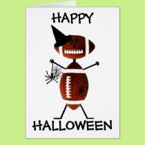 Happy Halloween Football Card