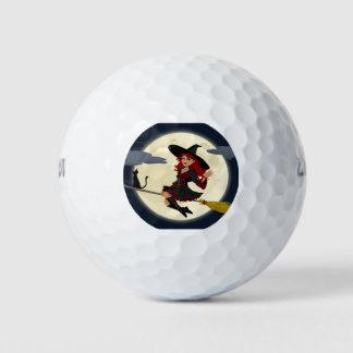 Happy Halloween Friendly Witch Golf Balls