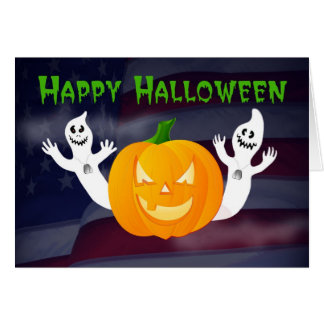 Happy Halloween from Across the Miles military Card