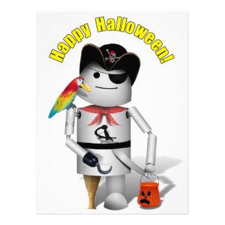 Happy Halloween from Capt. Robo+x9 Personalized Invites