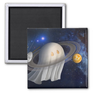 Happy Halloween From Cassini 2 Inch Square Magnet