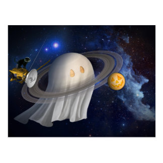 Happy Halloween From Cassini Postcard