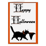Happy Halloween From One Cool Cat To Another Card