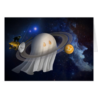 Happy Halloween from Outer Space Greeting Card