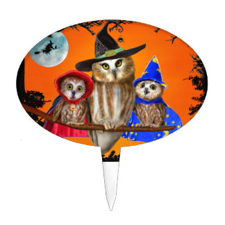 HAPPY HALLOWEEN FROM OWL OF US! CAKE TOPPER