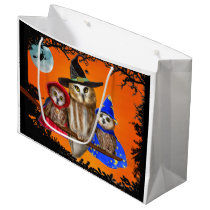 HAPPY HALLOWEEN FROM OWL OF US! LARGE GIFT BAG