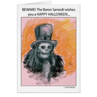 Happy Halloween from The Baron Card