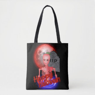 Happy Halloween from the grave Tote Bag